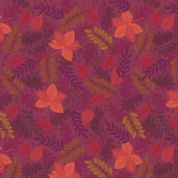Lewis & Irene - Under The Oak Tree - 6902 - Autumn Leaves on Purple - A396.3 - Cotton Fabric